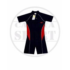BAJU RENANG SPEEDO DIVING list PUTIH MERAH