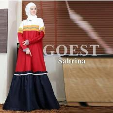 Baju Sabrina Goes Dress Baloteli Maxi Modern Cewek Gamis Panjang Hijab Casual Pakaian Wanita Murah