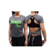 Baju Senam Zumba Kaos Aerobik Fitness Gym Atasan 2016 - Silver