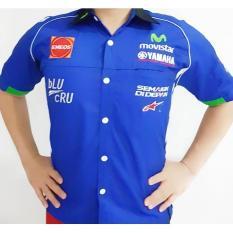 Baju Seragam Otomotif Yamaha Movistar - Kemeja Bordir Crew Yamaha Movistar MotoGP