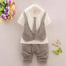Baju Setelan Anak Laki Laki Rompi Import/Kids Fashion/Baju Bayi Balita