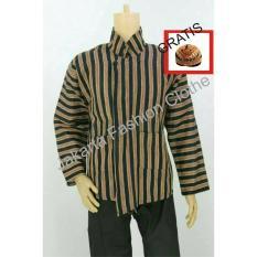 Baju Surjan Dewasa Gratis Blangkon / Lurik / Batik Adat Jawa - 36Bd7b