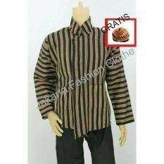 Baju Surjan Dewasa Gratis Blangkon / Lurik / Batik Adat Jawa - Enswze