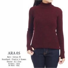 baju sweater rajut ara wanita