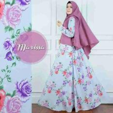 Baju Syar'i Modern Bahan Monalisa Busana Muslim Wanita - Motif Bunga