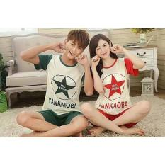 Baju Tidur Couple Pasangan Red Green Star Yanxiab