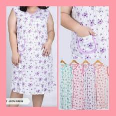 baju tidur import singlet jumbo, pakaian wanita bigsize gendut, baju daster cewek gemuk, dress bunga