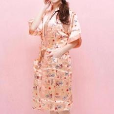 Dapatkan Segera Baju Tidur Kimono Satin Set Daster Salem