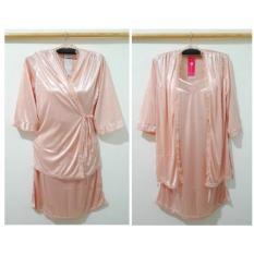 Harga Baju Tidur Kimono Tanktop Satin Renda Peach Yang Murah Dan Bagus