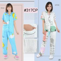 Harga Termurah Baju Tidur Piyama 317 Cp Biru