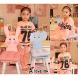 Jual Baju Tidur Piyama Anak Cewek Hello Kitty 76 Peach Branded Original