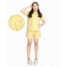 Beli Baju Tidur Piyama Katun Jepang Celana Pendek Lemon Online