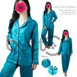 Beli Baju Tidur Piyama Long Sleeves Sleepwear Polos Pajamas Panjang Wanita Dewasa Online