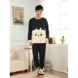 Baju Tidur Piyama Pria Panda Dot Navy Di Banten