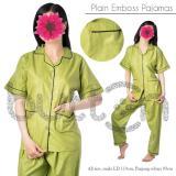 Harga Baju Tidur Piyama Sleepwear Polos Emboss Katun Satin Oem Online