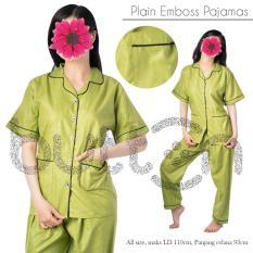 Toko Baju Tidur Piyama Sleepwear Polos Emboss Katun Satin Dki Jakarta