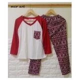 Beli Baju Tidur Piyama Wanita Vintage Maroon Import Online Banten