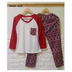 Harga Baju Tidur Piyama Wanita Vintage Maroon Import Baju Tidur Terbaik