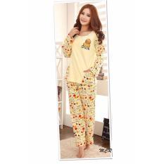 Baju Tidur Setelan Piyama Wanita Yellow Duck Song