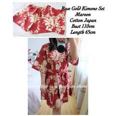 Baju Tidur Wanita Fashionable - Kimono Rosegold Navy