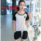 Jual Beli Baju Tidur Wanita Piyama Black White Br Logo Baru Banten