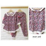 Spesifikasi Baju Tidur Wanita Piyama Flower Pink Ribbon Renda Baju Tidur