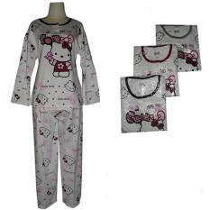 Harga Baju Tidur Wanita Pp Bahan Kaos Terlaris Hello Kitty Termurah
