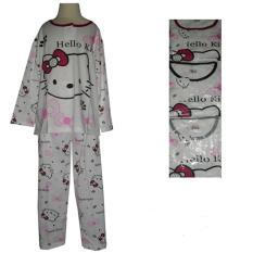 Jual Baju Tidur Wanita Pp Bahan Kaos Terlaris Hello Kitty Murah