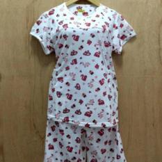 Baju Tidur/santai wanita stelan pendek Babydoll merah