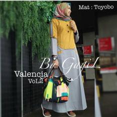 Toko Baju Valencia Dress Baloteli Maxi Modern Cewek Gamis Panjang Hijab Casual Pakaian Wanita Murah Terlengkap