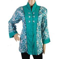 Baju Wanita Batik Kerja Motif Kalimantan-BLS4006-Hijau