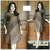 Promo Baju Wanita Dress Batik Tunik Genes Serut B Batik