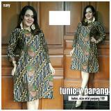 Harga Baju Wanita Dress Batik Tunik V Parang Baru Murah