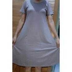 Baju Wanita Dress Polos Lengan Pendek Spandex