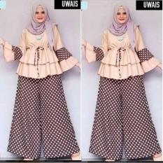 Jual Baju Wanita Hijab Wanita Tunik Wanita Baju Panjang Wanita Model Dotty Set Di Bawah Harga