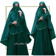 Harga Baju Wanita Muslim Gamis Syari Premium Wolfice Hijau Botol Polos Busui Cadar Azzahra By Nurul Collection Original