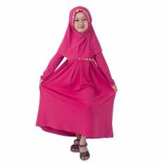 Baju Yuli Gamis Anak Perempuan Simple Motif Bunga Pink Diskon Jawa Barat