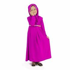Toko Baju Yuli Gamis Anak Perempuan Simple Motif Bunga Ungu Magenta Dekat Sini