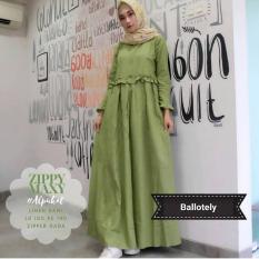 Baju Zippy Maxi Baloteli Maxi Modern Cewek Gamis Panjang Hijab Casual Pakaian Wanita Murah