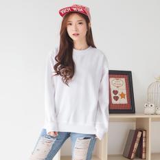 Jual Bajukitaindonesia Jaket Basic Sweater Polos Putih Pria Dan Wanita Bajukitaindonesia Jacket Grosir