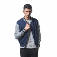 Bajukitaindonesia Jaket Basic Varsity Polos Donker Abu M Xl Bajukitaindonesia Jacket Murah Di Dki Jakarta