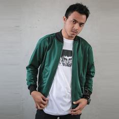 Bajukitaindonesia Jaket Bomber Lotto Polos ARMY M XL