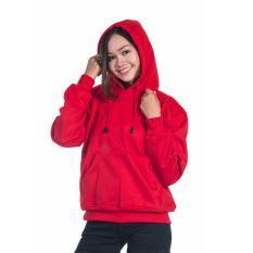 Beli Bajukitaindonesia Jaket Hoodie Jumper Polos Merahterang Pria Dan Wanita Baru