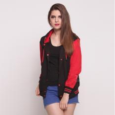 Spesifikasi Bajukitaindonesia Jaket Hoodie Varsity Polos Hitammerah Pria Dan Wanita Baru
