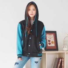 Harga Bajukitaindonesia Jaket Hoodie Varsity Polos Hitamturkis Pria Dan Wanita Bajukitaindonesia Jacket Baru
