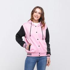 Spesifikasi Bajukitaindonesia Jaket Hoodie Varsity Polos Pinkhitam Pria Dan Wanita Bajukitaindonesia Jacket