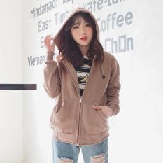 Harga Bajukitaindonesia Jaket Hoodie Zipper Polos Coklat Mocca Pria Dan Wanita Yang Murah Dan Bagus