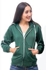 Harga Bajukitaindonesia Jaket Hoodie Zipper Polos Hijau Lumut Pria Dan Wanita Bajukitaindonesia Jacket Ori