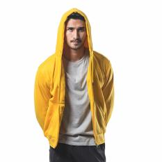 Bajukitaindonesia Jaket Hoodie Zipper Polos KUNING - M-XL