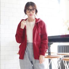 Harga Bajukitaindonesia Jaket Hoodie Zipper Polos Maroon Pria Dan Wanita Bajukitaindonesia Jacket Original